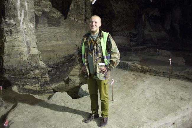 Сотрудник Центра археологии Киева Максим Вакулюк