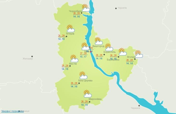 Сьогодні в Україні малохмарно та спека до +32