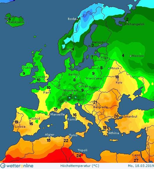 Погода в Украине 19 марта