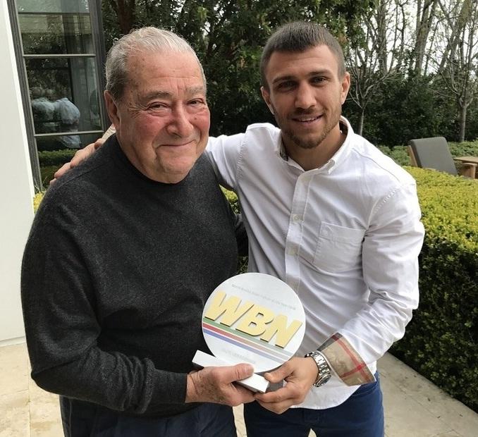 Ломаченко получил награду «Боксер года» отWorld Boxing News