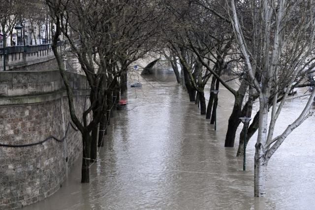 Сена выходит изберегов изаливает Париж