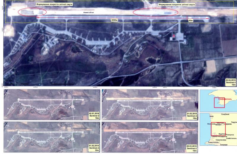 Оккупанты строят вторую ВПП нааэродроме «Бельбек»