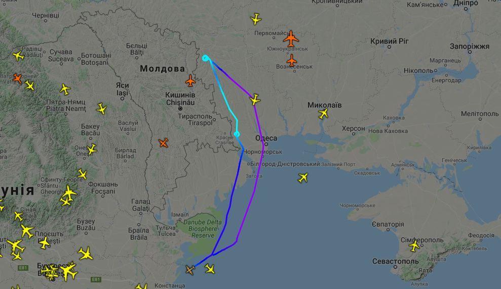 Американський літак провів розвідку біля окупованого росіянами Придністров'я