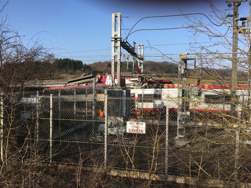 При столкновении поездов вЛюксембурге пострадали шесть человек