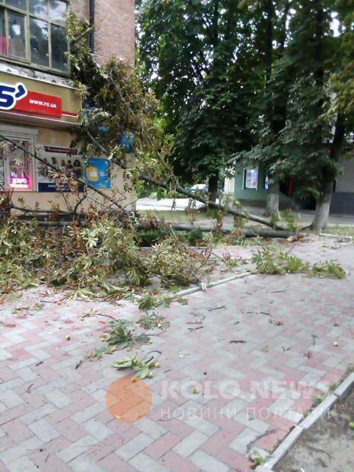 Последствия урагана в Полтаве 7 август Фото: facebook.com / kolo.news