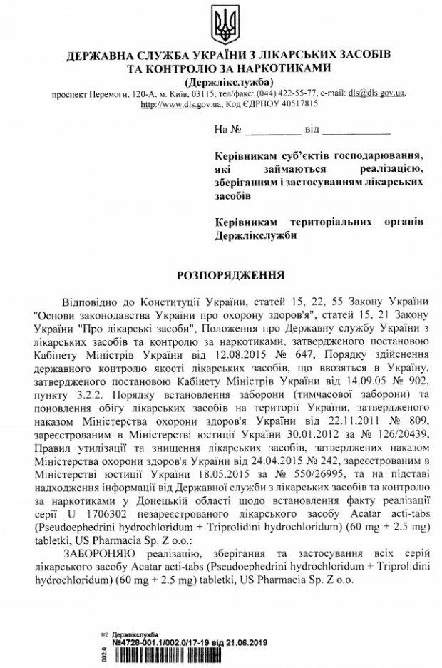 В Україні заборонили популярний препарат від алергії