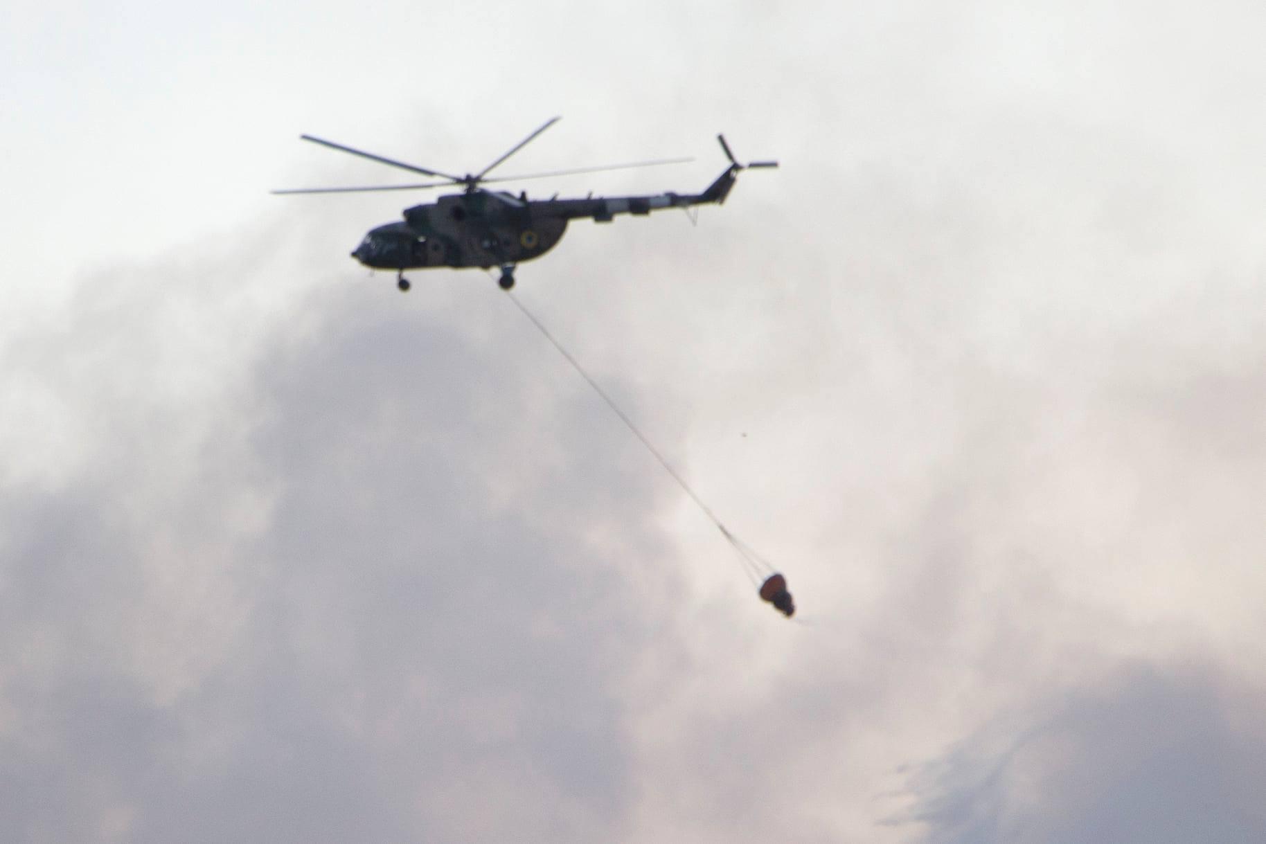На півдні України під час навчань загорівся військовий полігон