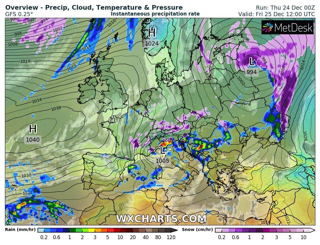 Штормовой ветер, дождь и мокрый снег: синоптики огорчили прогнозом погоды на Рождество