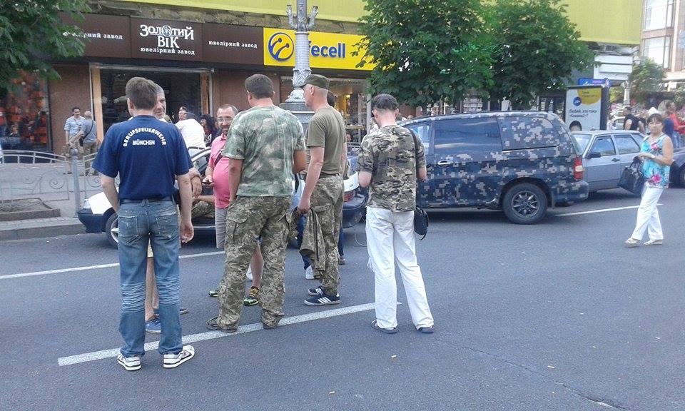 активисты перекрыли Крещатик