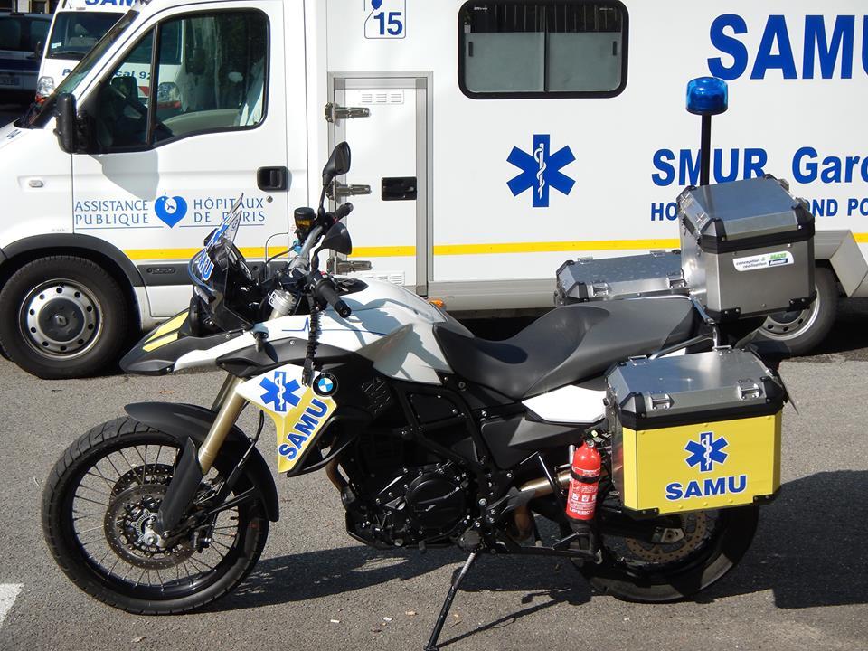 Мотоцикл скорой помощи во Франции