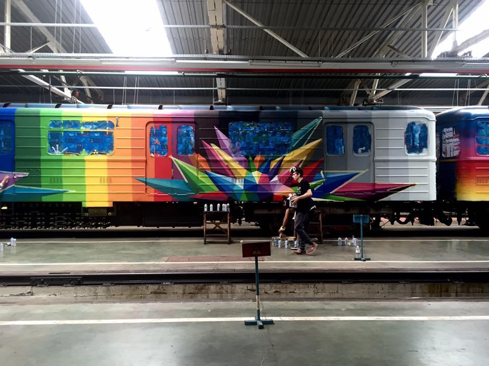 КоДню Независимости вкиевском метро запустят арт-поезд