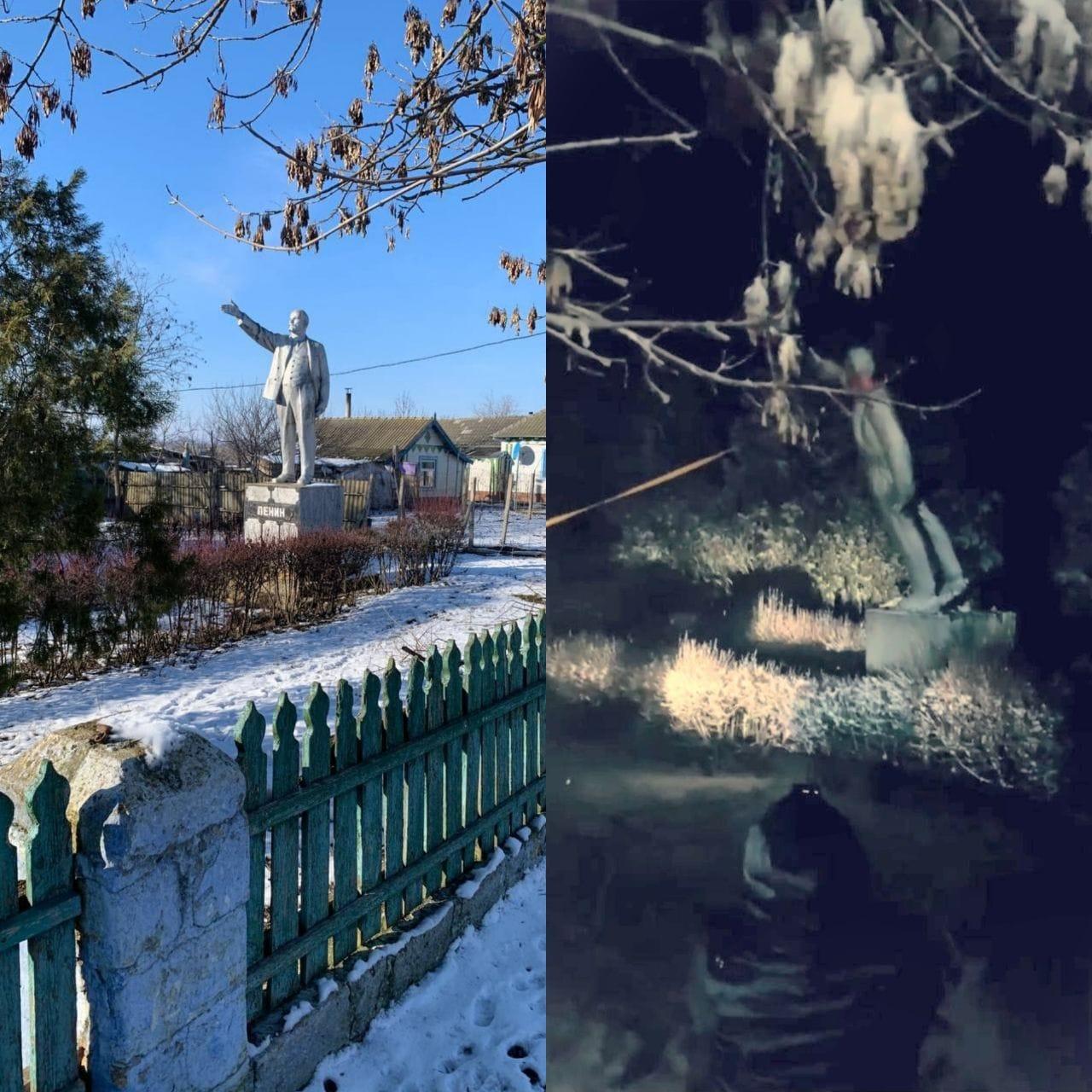 В Украине повалили последнего Ленина: появилось фото