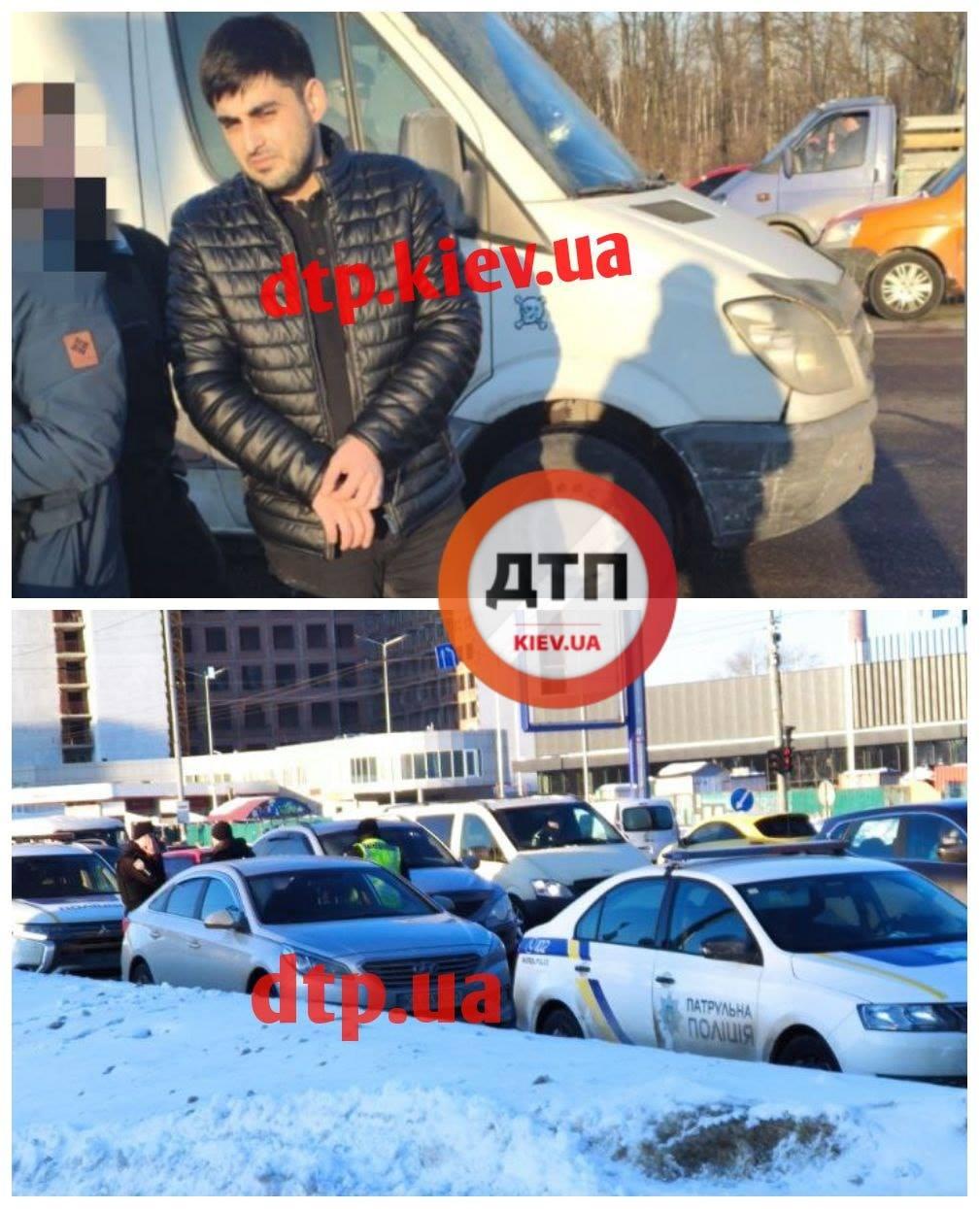 В центре Киева водитель-иностранец убил пешехода ударом в шею (видео)