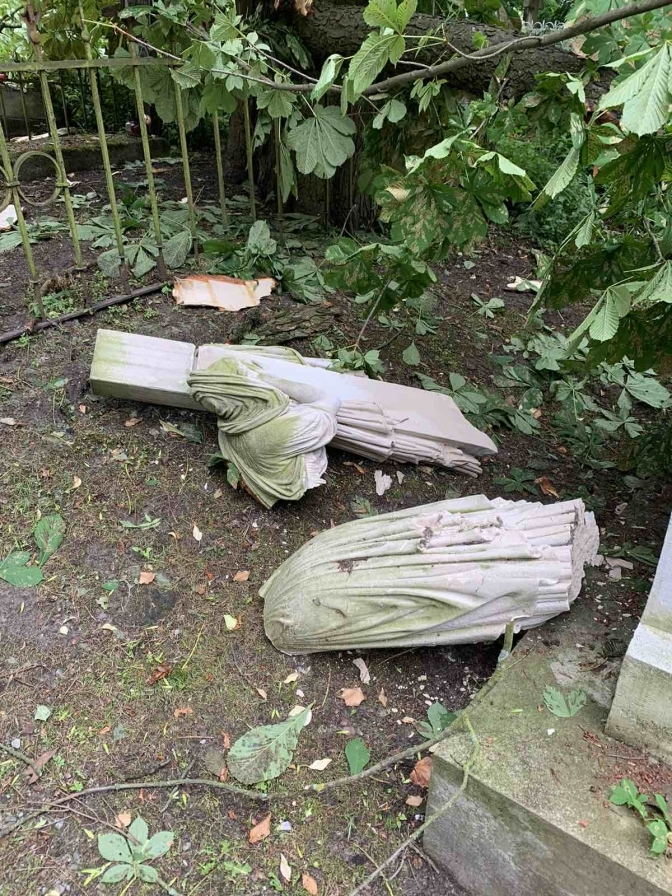 У Львові буревій зруйнував легендарний Личаківський цвинтар: відновленню не підлягає