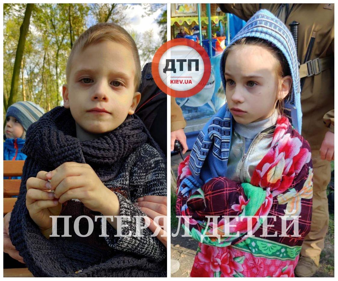 В Киеве пьяный отец на прогулке потерял двоих детей