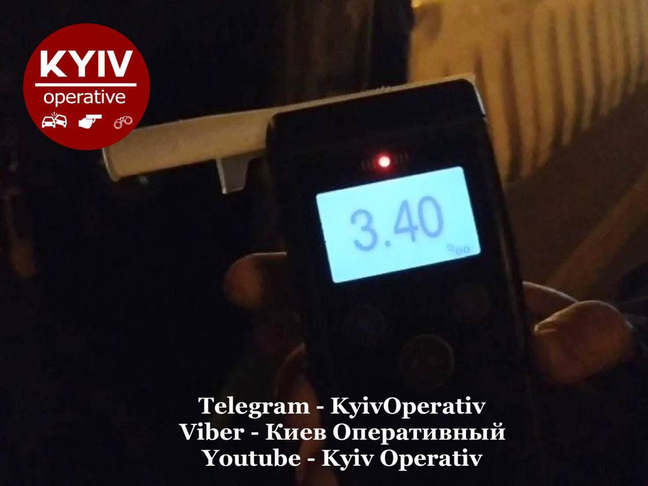 В Киеве задержали пьяную в стельку женщину на авто: побила рекорд на драгере