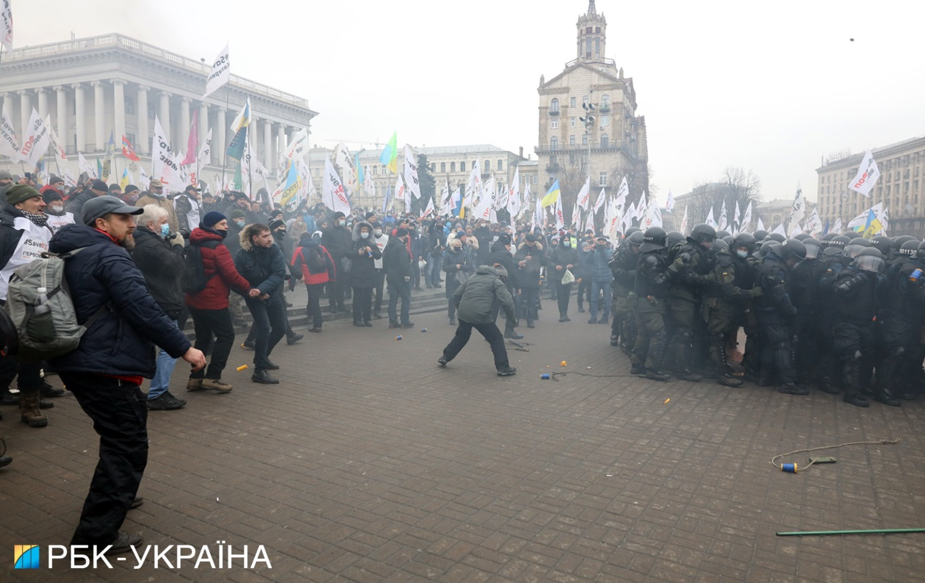 ФОПы установили палатки на Майдане после жестокой драки с полицией (много фото)