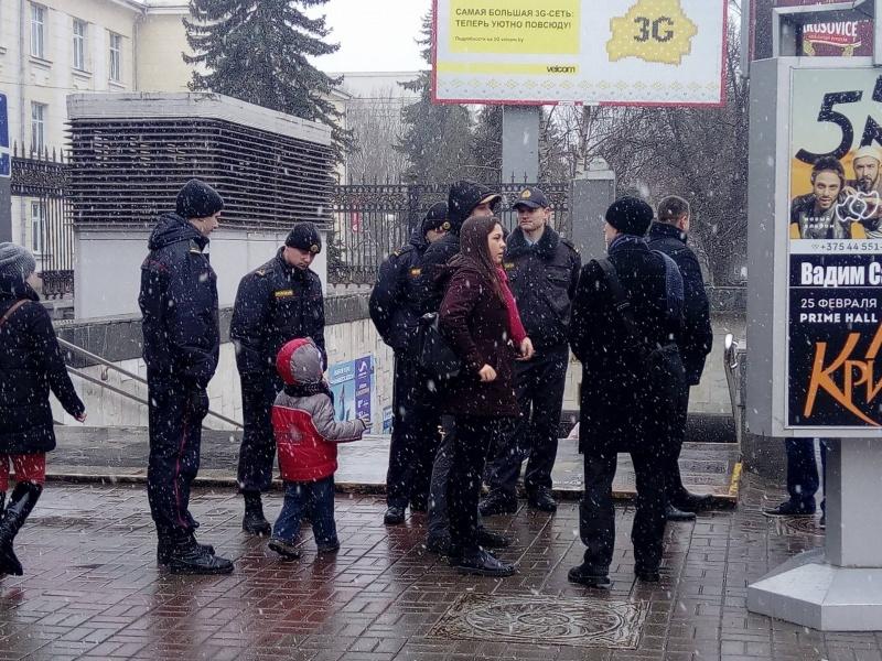 Впроцессе «Дня воли» вМинске сегодня были задержаны сотни человек