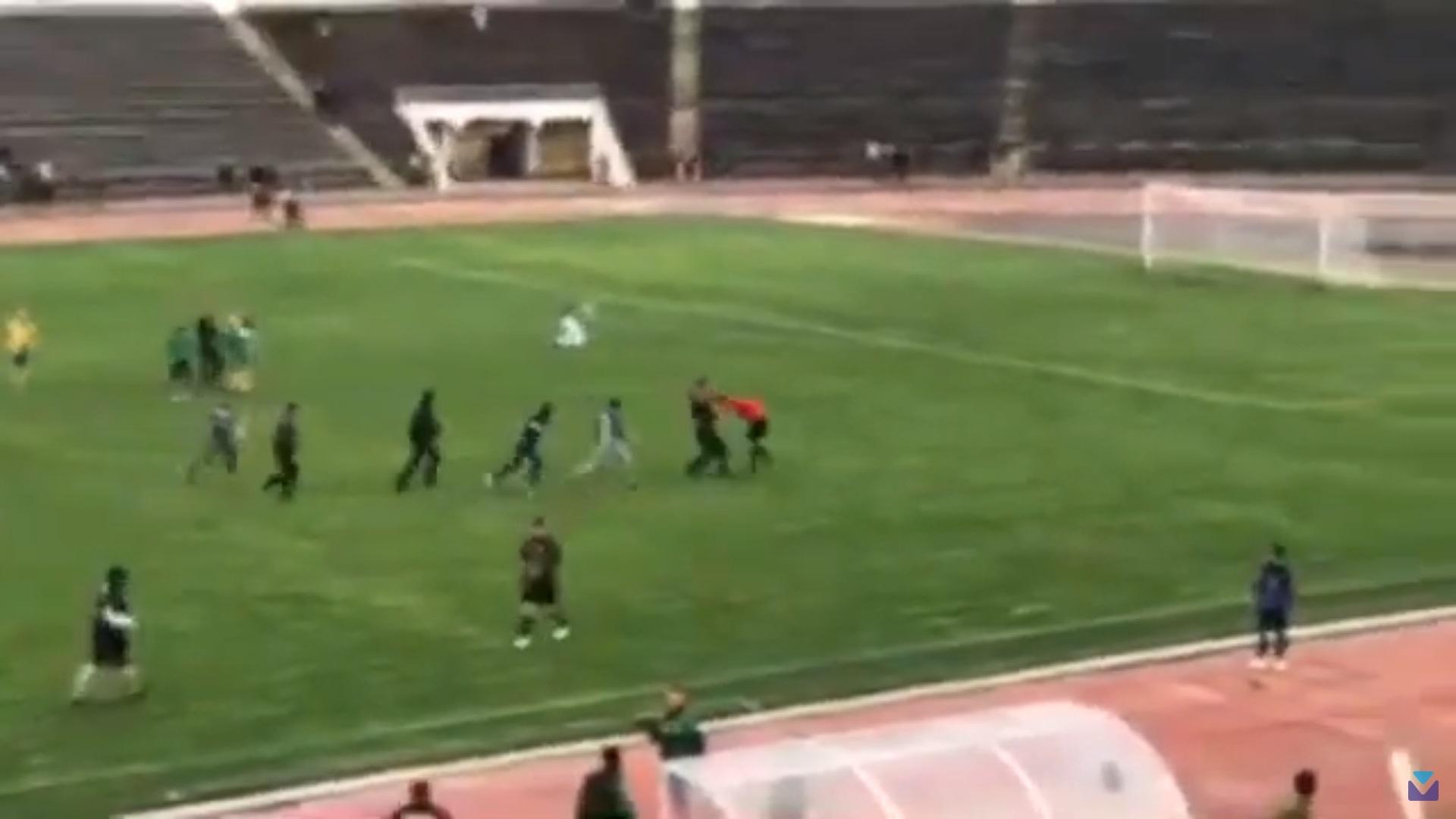 Усім натовпом: у Вінниці вболівальники побили арбітра прямо на полі (відео)