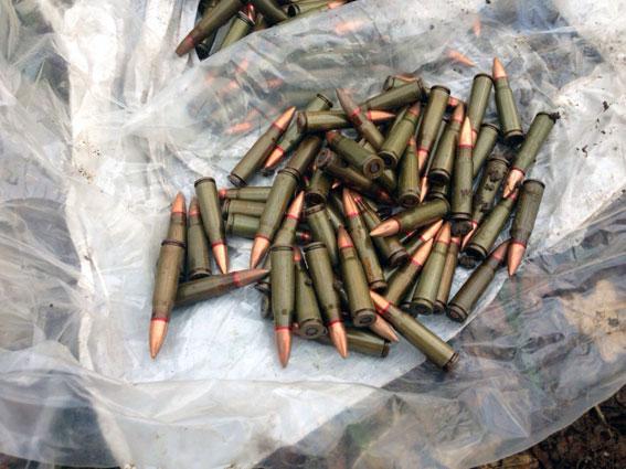Милиция нашла вХарьковской области тайник сбоеприпасами