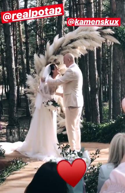 Свадьба года: первые фото и видео с церемонии Насти Каменских и Потапа