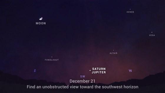 Зближення Юпітера і Сатурна відбудеться в день зимового сонцестояння 21 грудня (фото: NASA/JPL-Caltech)