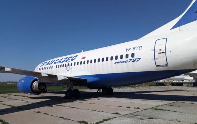 ВУкраинском государстве выставили на реализацию арестованный самолет русской авиакомпании Трансаэро