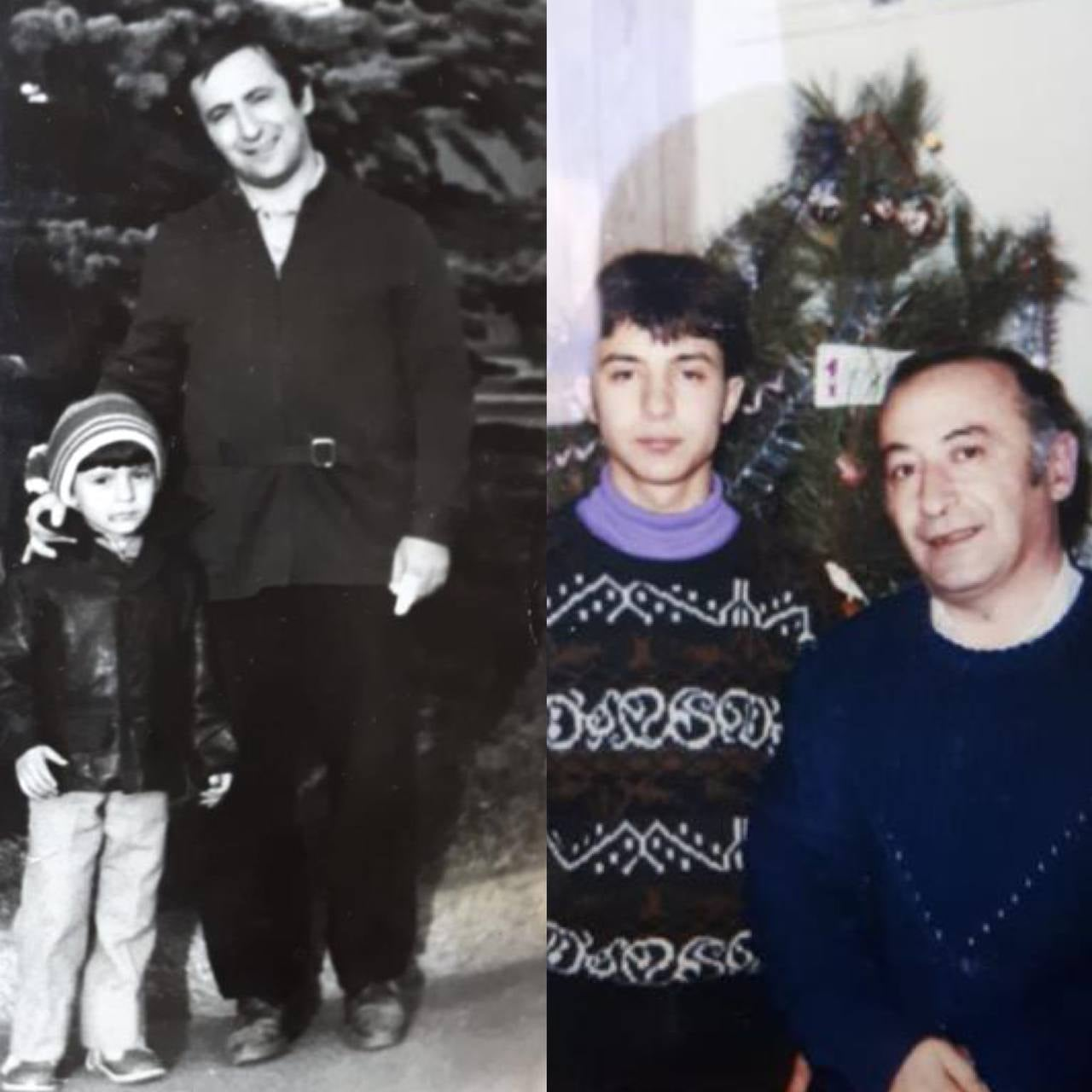 Зеленский в День отца показал детские фотографии с папой