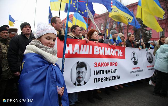 «Марш забудущее» вКиеве требует отставки Порошенко