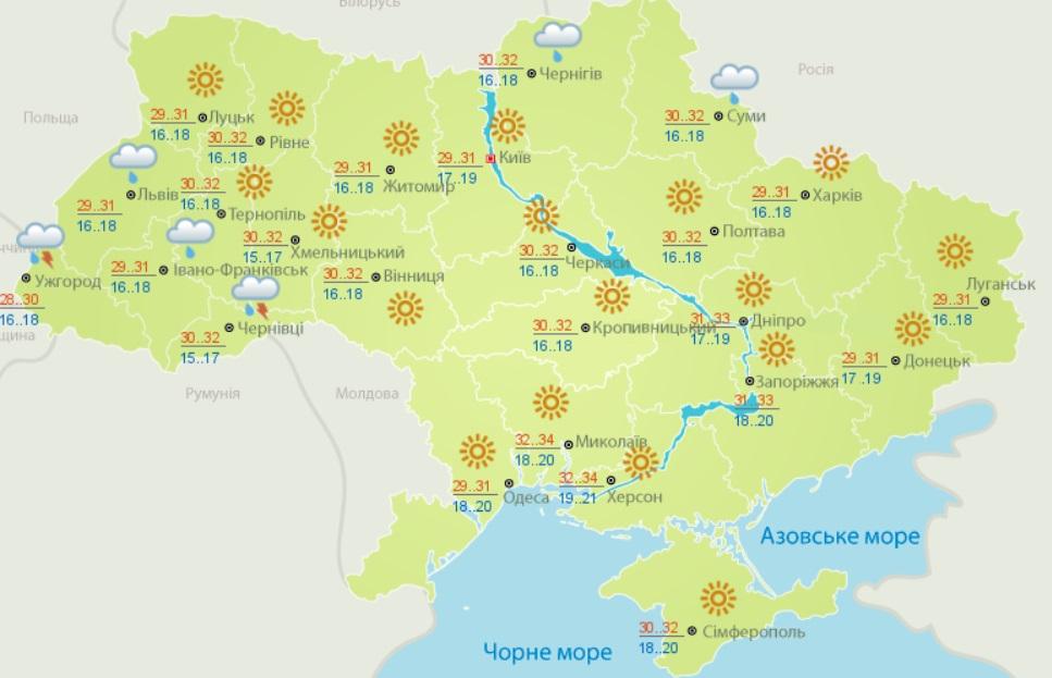 Аномальна спека: які області найбільше постраждають від примх погоди