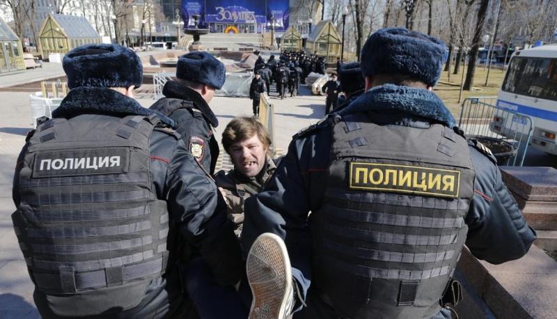 Нанезаконной акции вцентре столицы задержаны неменее 500 человек