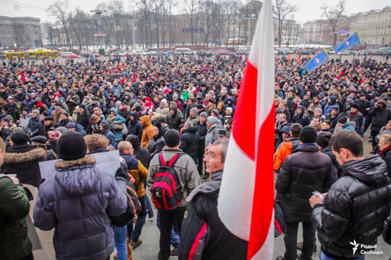 «Марш рассерженных белорусов» проходит вМинске