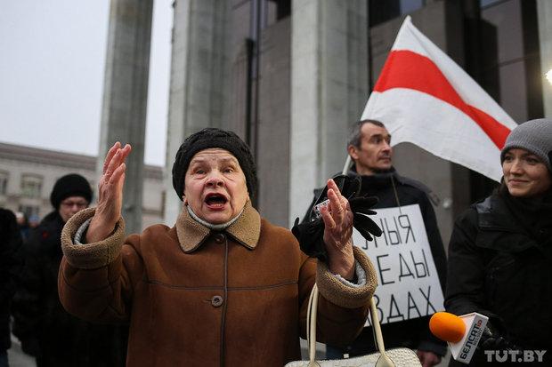 ВМинске проходит несанкционированный марш против декрета отунеядцах