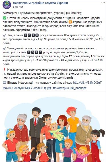 Биометрические загранпаспорта оформили почти 180 тыс. пожилых украинцев