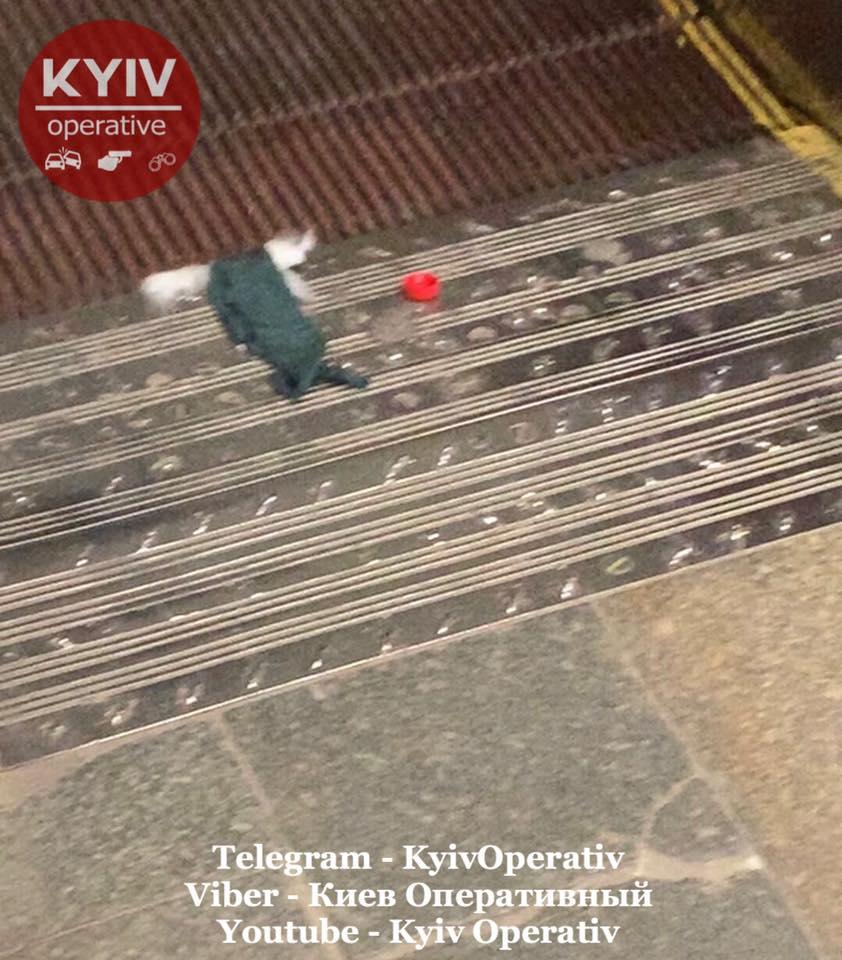 В метро Киева произошло ЧП на эскалаторе: не успела вовремя встать