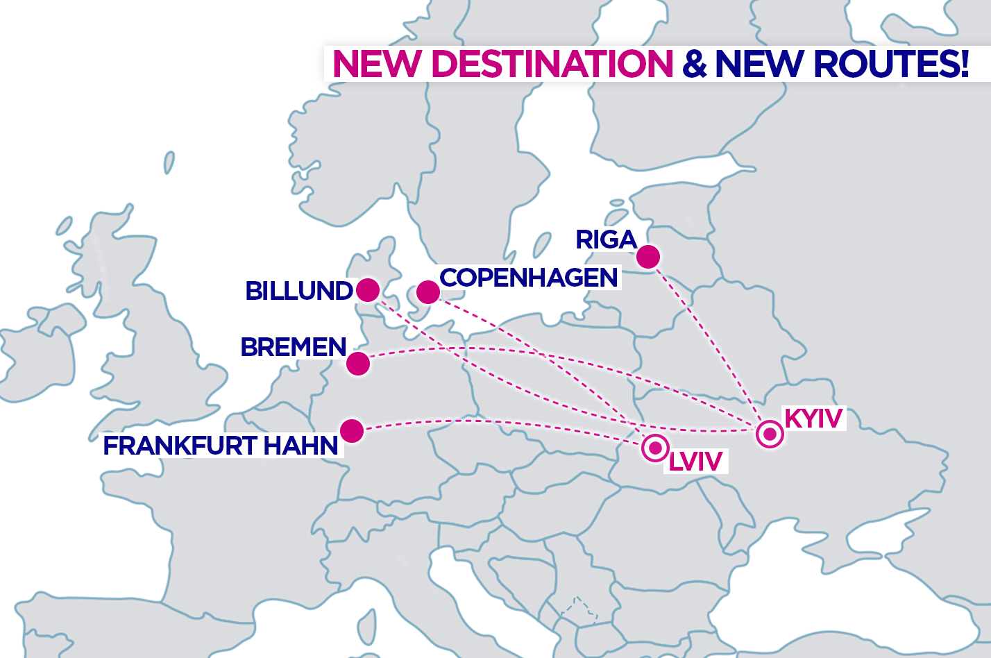 Wizz Air запускає п'ять нових маршрутів з України