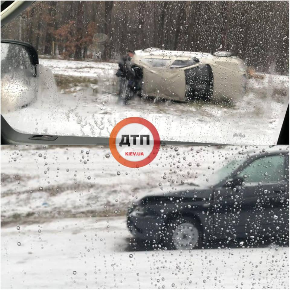 Из-за первого снега в столице произошло уже более 50 аварий