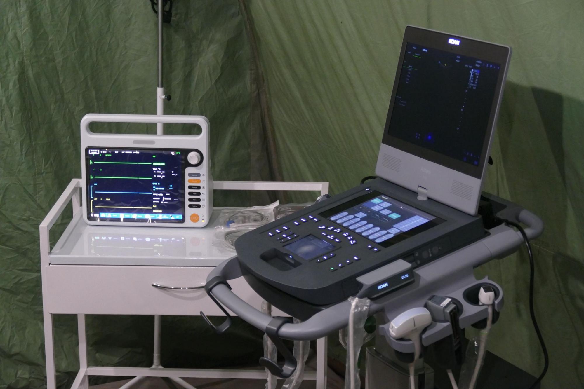 З'явилися фото першого в Україні мобільного COVID-госпіталю