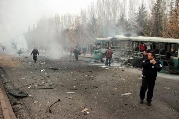 Размещено видео сместа взрыва втурецком Кайсери