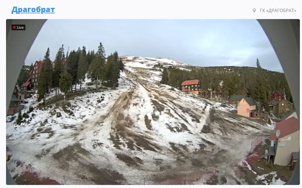 Горнолыжные курорты Карпат остались без снега: печальные фото