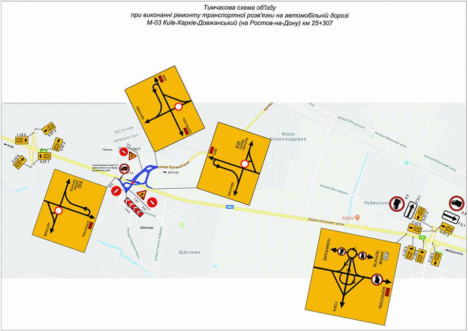 На трасі Київ-Харків на три місяці обмежать рух