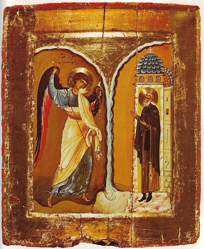 Михайлово Чудо (19 сентября) - Страница 2 800px-Michael_Miracle_Icon_Sinai_12th_century