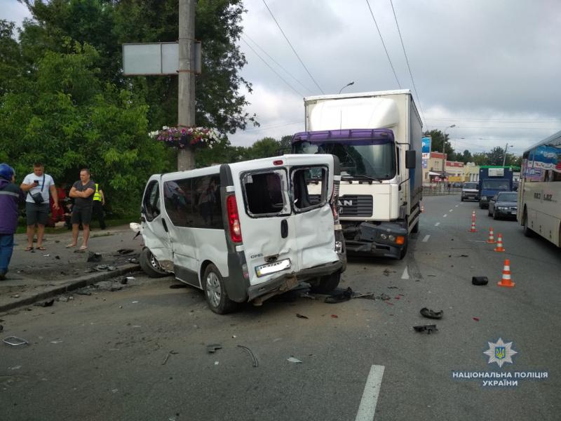 В Виннице столкнулись четыре автомобиля, есть погибший и пострадавшие