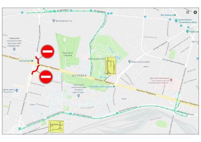 В Киеве завтра перекроют съезды Шулявского путепровода