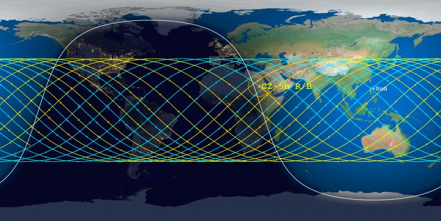Ніхто не знає, куди влучить: з'явилося фото падаючої на Землю 22-тонної ракети