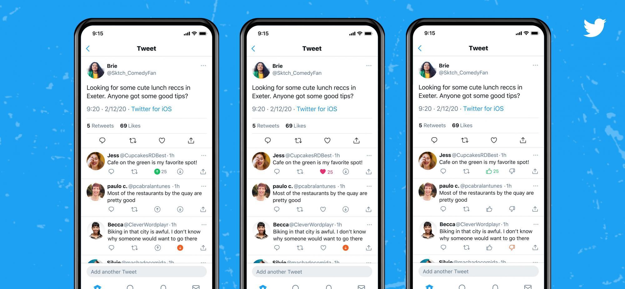 Twitter тестирует новую функцию. Теперь комментариям можно ставить дизлайкы