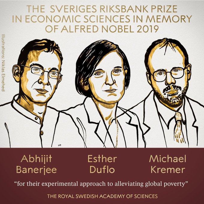 Картинки по запросу нобелівська премія з економіки 2019