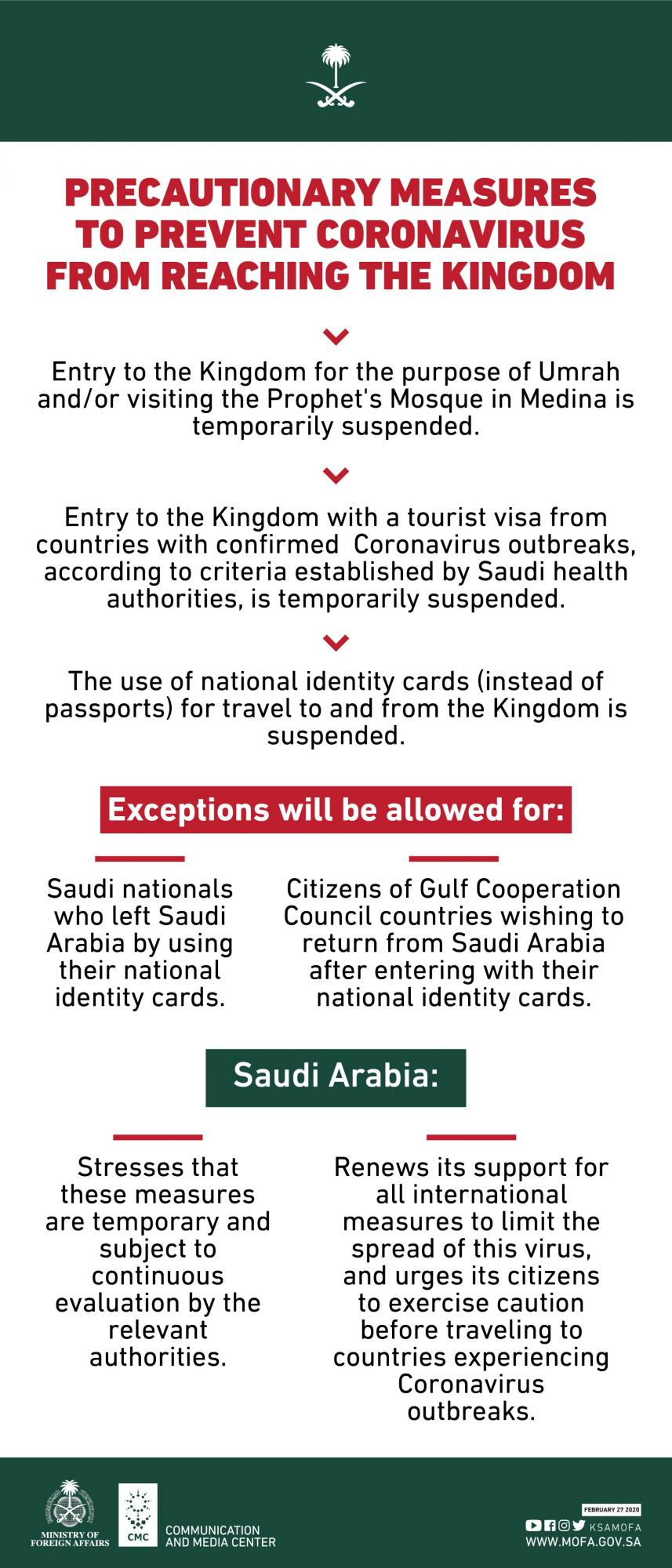 Саудовская Аравия впервые полностью закрыла Мекку и Медину для иностранцев
