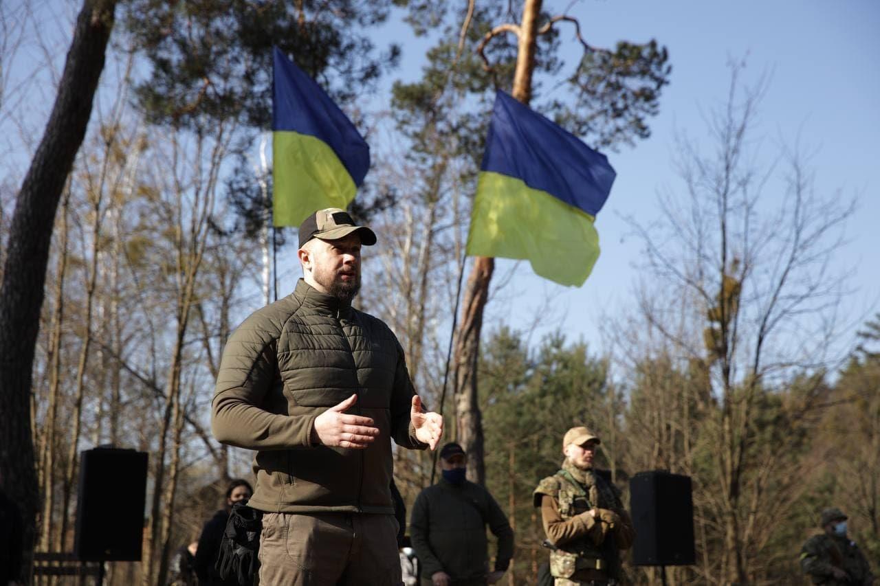 В Киевской области провели военные учения из-за обострения ситуации на Донбассе