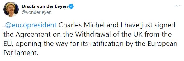 Британія і ЄС підписали угоду про Brexit